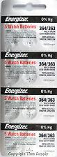 20 pc 364 / 363 Energizer Watch Batteries SR621SW SR621 0% Hg