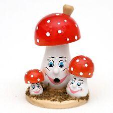 Raucherfigur als Pilz Räuchermann Pilzfamilie 13 cm mit Gesicht farbig 40604