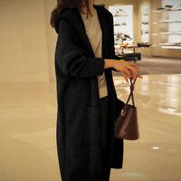 Fashion Oversized Women Long Sleeve Knitted Cardigan Sweater Outwear Coat Jacket
