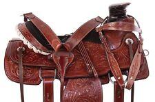COWBOY WADE TREE WESTERN LEATHER ROPER HEAVY DUTY HORSE SADDLE TACK 14 15 16 NEW