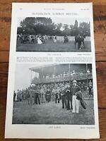 "1896 racing illustrated print "" huntingdon summer meeting """