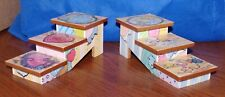"""Enesco Calico Kitten Stairs """"A Breed Apart"""" Display New"""