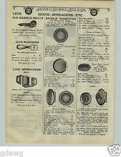 1924 PAPER AD 2 PG Saddle Rosettes Bridle Brass Nickel Crystal Pflueger Dogs