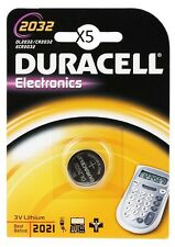 5 Piles CR2032 DURACELL bouton Lithium 3V CR 2032 DLC 2025