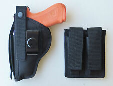 Hip Holster for RUGER P93, P95, P97, P345 Combo with Dbl MAG POUCH