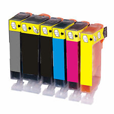 6 PK INK Canon PGI-220 CLI-221 MP540/MP980/MP990 w/Chip