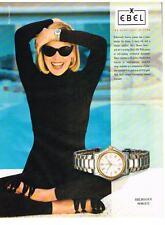 PUBLICITE ADVERTISING   1994     EBEL  montre  1911  SHARON STONE