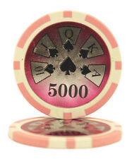 50pcs High Roller Casino Laser Clay Poker Chips $5000