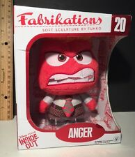 FUNKO Soft Sculpture FABRIKATIONS Disney Inside Out ANGER #20 Plush Figure NIB