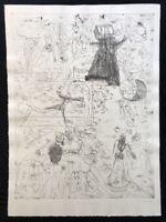 Pipi Paloma, Blechtrommel (III), Radierung, 1993, handsigniert und datiert