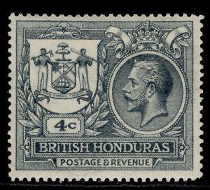 BRITISH HONDURAS GV SG123, 4c slate, M MINT. Cat £14.