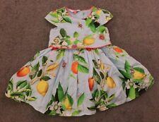 Beautiful Girls Turquoise TED BAKER Oranges & Lemons Dress (18-24 Months)