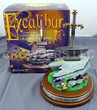 """EXCALIBUR Statue Sword in the Stone 10"""" Overall Camelot Collection Factory X '00"""