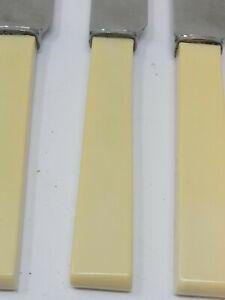 Vintage Set of 6x Rustless Steel Bone Handled Knives by Wheatley Brothers