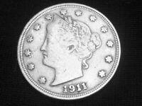 1911 Liberty Head Nickel --- Very Fine +++