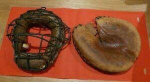 Vintage Wilson A2576 Catcher's Mitt - Bob Schmidt, with Mask