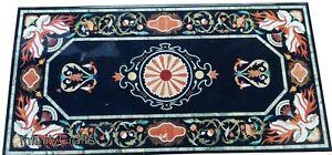 76.2cm Marmor Kaffee Tischplatte Semi Precious Edelsteine Eingelegt Mitte Tablet