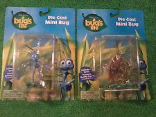 Thinkway Toys Pixar A Bug's Life Flik & Hopper Die Cast Mini Bugs (New)