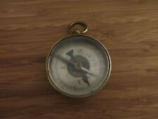 ANTIQUE BRASS COMPASS BEVELED GLASS TOP CIRCA 1900'S MARKED 46 MADE IN FRANCE