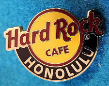 HONOLULU HAWAII RED LINE CIRCLE LOGO 3 LINES GUITAR PICK HOLO Hard Rock Cafe PIN