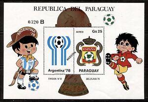 PARAGUAY 1979, WORLD SOCCER CUP - SPAIN, Scott C473 MNH + DESCRIPTION