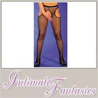 Ladies Sexy Black Fishnet Suspender Tights Plus Size 8 10 12 14 16 18 20 22 M XL