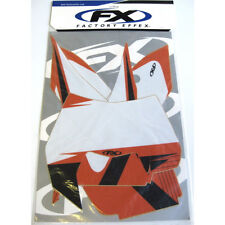 Factory Effex Number Plate Backgrounds Graphics KTM EXC 08 09 10 11 12 13 White