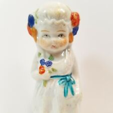 Bisque Girl Lusterware Penny Doll Frozen Charlotte Japan Figurine Miniature -Ab1