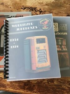 Jukebox Book Lot - Seeburg, Wurlitzer, AMI - Great Condition- Spiral Bound