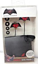 Batman V Superman Earbud Headphones With Pouch ( Black )