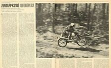 1968 Zundapp KS100 ISDT Replica Road Test 3-Page Article