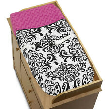 Sweet Jojo Changing Table Pad Cover for Black White Pink Isabella Baby Bedding