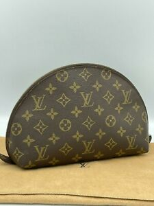Auth Louis Vuitton Monogram Cosmetic Pouch Demi Ronde M47520 AA-1862