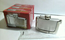 Maxam KTFLASKBKL3 Belt Buckle Flask 3oz, Silver (3 Pack)