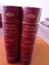 MERVEILLES DE LA SCIENCE.TOME 1&2.PAR LOUIS FIGUIER.XIX ème.LIVRE.VIEUX PAPIERS