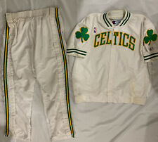 """Ed Pinckney """"Game-Used"""" 1993-94 Boston Celtics Game Warmup Jacket & Pants"""