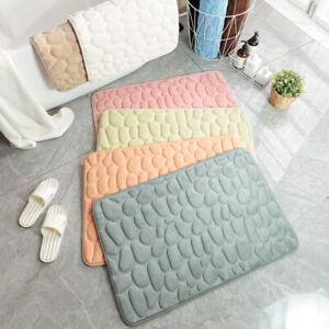 Embossed Bathroom Bath Mat Memory Foam Pad  Non-slip Carpets In Wash Basin Rug