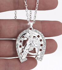 HORSE   WESTERN JEWELLERY JEWELRY SPARKLING HORSE   HORSESHOE NECKLACE ... d67d7a7e2f9c