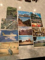 VTG Lot Of 12 Postcards Desert Jack Rabbit, Singapore, China, Japan, Hawaii, Etc