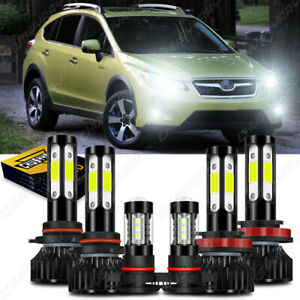 For Subaru XV Crosstrek 2013-2014 Combo LED Headlight Hi/Lo Fog Light Kit Oty 6