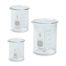 Glass Beaker Set 3 Sizes 50 100 And 250ml Karter Scientific 214t2