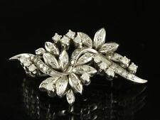 Schöne Brillant Diamant Brosche ca. 0,82ct  Goldschmiedearbeit  585/- Weißgold