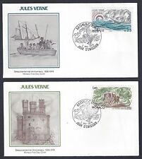 MONACO 1978 JULES VERNE ISSUE FIVE FDCs