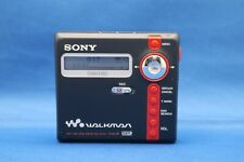 Sony Net Md Mz-N707 Type-R Navy Blue/Red Walkman Minidisc Recorder