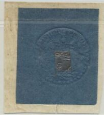 Great Britain King George Iii Embossed 4 Pence Stamp Tax Revenue with Cipher