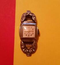 "RARE VINTAGE WOMAN 1940's ""ACCRO"" WRIST WATCH * 17 JEWELS ^ SWISS MADE * RUNS"