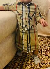 burberry jacket dress belted 3y 3t 100%authentic girls baby trench toddler great