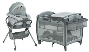 Graco Baby Pack 'n Play Portable Snuggle Seat Infant Bassinet Playard Mullaly