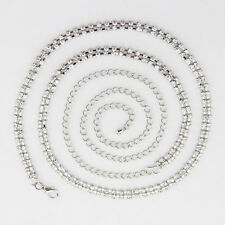 2 Row Diamante Diamond Belt Ladies Waist Chain Charm in Silver Fashion Womens