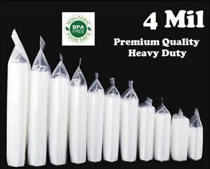 Clear Reclosable Zip Seal Bag Plastic 4 Mil Lock Bags Jewelry Zipper Baggie 4Mil